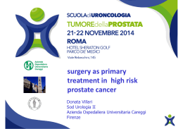 surgery as primary surgery as primary treatment in high risk prostate