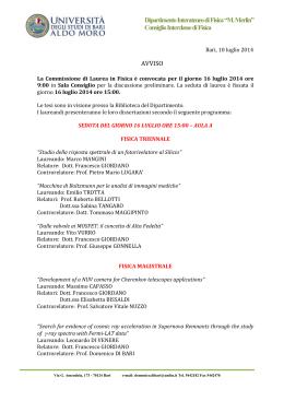 Calendario Lauree Unica Ingegneria.Calendario Lauree Aprile Ing 2015 Facolta