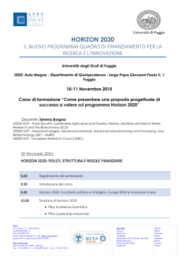 Seminario UNIFG Horizon 2020 - 10