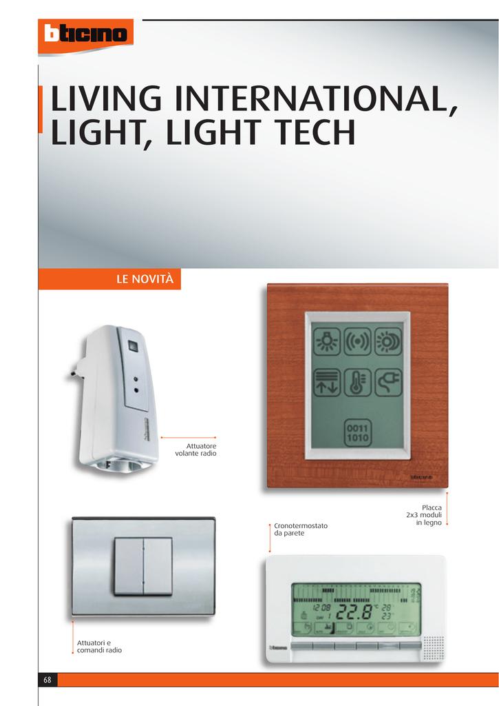 Istruzioni d uso cronotermostato bticino thermo p for Perry cr309 s manuale d uso