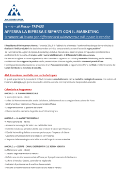 afferra la ripresa e riparti con il marketing