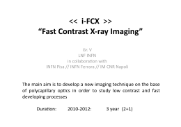 "> ""Fast Contrast X‐ray Imaging"""