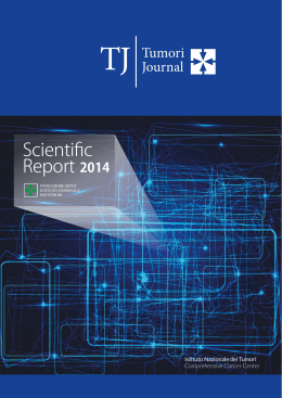 Scientific Report 2014 - Istituto Nazionale dei Tumori