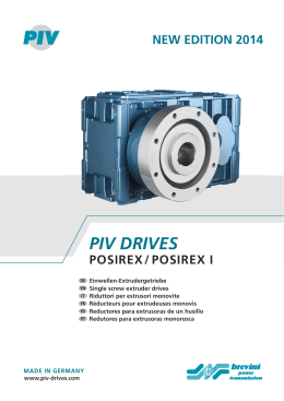 PIV DRIVES - Brevini Power Transmission