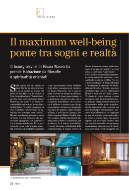 Il maximum well-being ponte tra sogni e realtà
