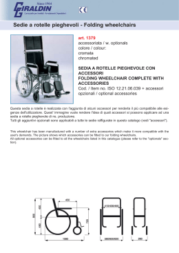 Sedie a rotelle pieghevoli - Folding wheelchairs