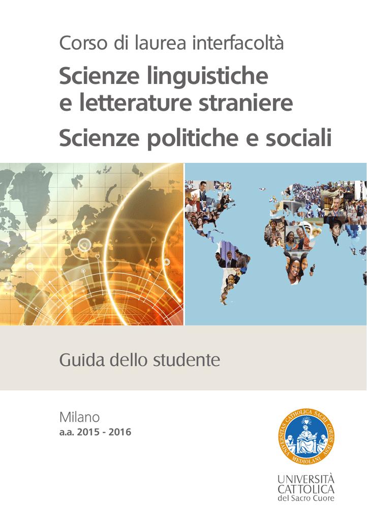 Unicatt Calendario Esami.Scienze Linguistiche E Letterature Straniere Scienze