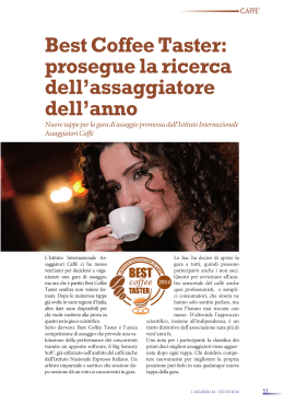 L`Assaggio 46 – estate 2014 – Best Coffee Taster