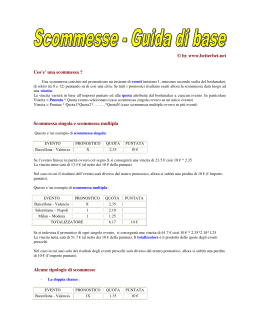 © by www.betterbet.net Cos`e` una scommessa