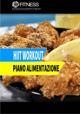hiit workout piano alimentazione - Sergio Chisari Fitness Official Page