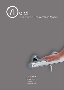 The Leader of Thermostatic Mixers