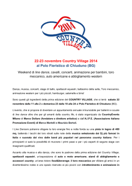 22-23 novembre Country Village 2014 al Polo Fieristico di Chiuduno