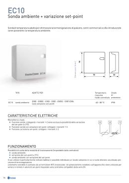 Manuale tecnico centralina easy clima sa for Termostato fantini cosmi c32