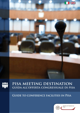 PiSA MEEtiNG dEStiNAtiON - Camera di commercio di Pisa