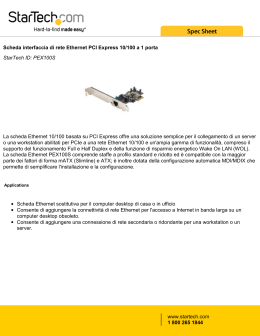 Scheda interfaccia di rete Ethernet PCI Express 10