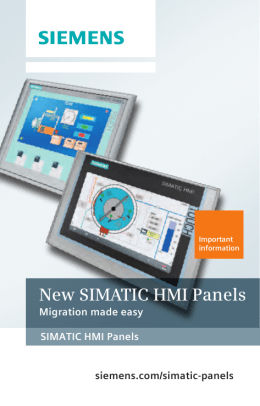 New SIMATIC HMI Panels