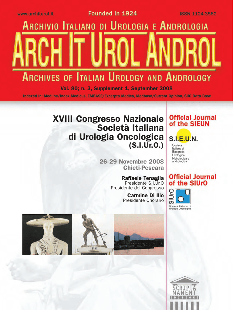 XVIII Congresso Nazionale Societ Italiana Di Urologia