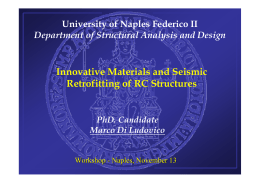 Innovative Materials and Seismic Retrofitting of RC Structures