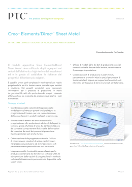 Creo™ Elements/Direct™ Sheet Metal