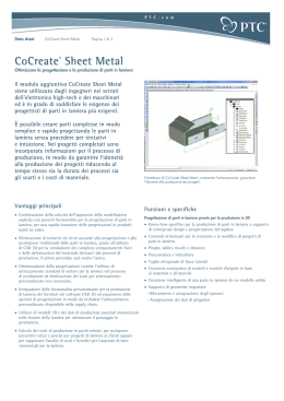 CoCreate® Sheet Metal - Sh Sistemi Srl Partner per l`Innovazione