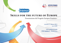 Skills for the future of Europe