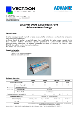 Inverter Onda Sinusoidale Pura Advance New