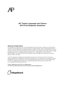 AP® Italian Language and Culture 2013 Free