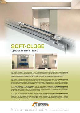 SOFT-CLOSE (art.BS35) è un nuovo accessorio per la chiusura