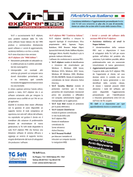 TG Soft e Vir.IT eXplorer PRO protagonisti