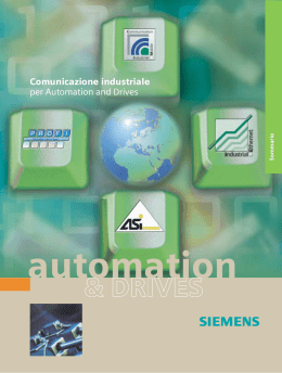 Comunicazione industriale per Automation and Drives