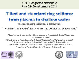 Tilted and standard ring solitons: from plasma to shallow water