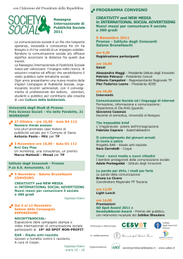 PROGRAMMA CONVEGNO CREATIVITY and NEW MEDIA