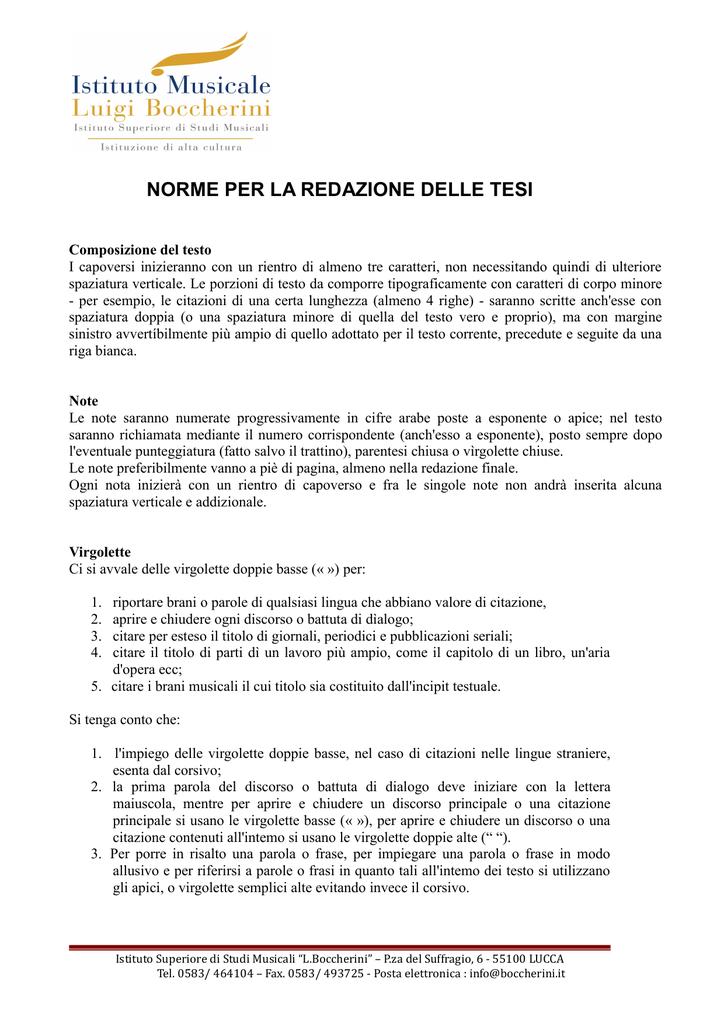 Criteri Tesi 2 Istituto Luigi Boccherini