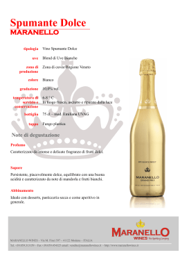 Spumante Dolce - Maranello Wines