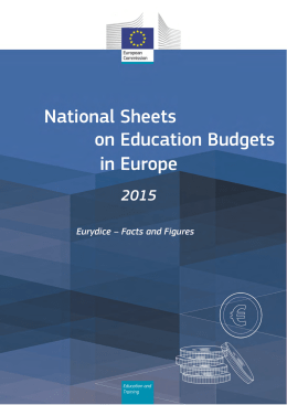 National Sheets on Education Budgets in Europe 2015