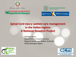 Spinal Cord Injury: patient care management in the Italian