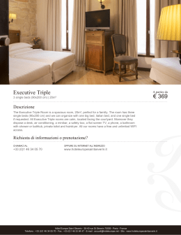 Executive Triple | Camere | Hôtel Europe Saint