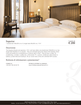 Superior | Camere | Hôtel Europe Saint