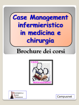 Brochure dei corsi  - Master case management infermieristico in