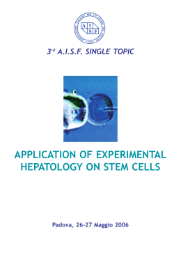 application of experimental hepatology on stem cells
