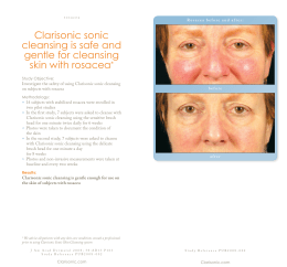 Clarisonic sonic cleansing is safe and gentle for cleansing skin with