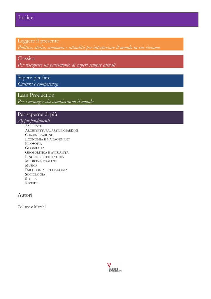 Catalogo Completo Guerini E Associati