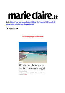 Link: http://www.marieclaire.it/Lifestyle/viaggi/10-hotel-di- charme