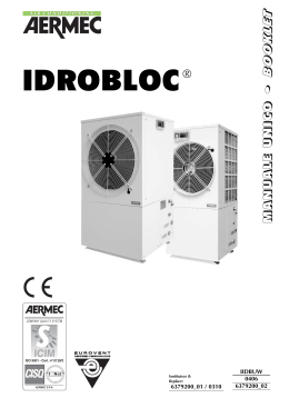 Independent air conditioning system Aermec Idrobloc Installation