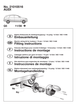 AUDI No. 21010516 Einbauanleitung Fitting instructions Instructions