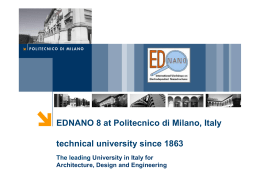 EDNANO 8 at Politecnico di Milano, Italy technical university since