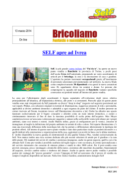 SELF apre ad Ivrea