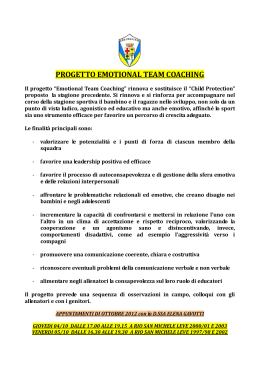 PROGETTO EMOTIONAL TEAM COACHING
