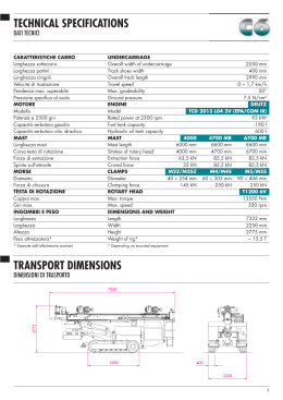 TECHNICAL SPECIFICATIONS TRANSPORT