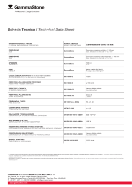 Scheda Tecnica / Technical Data Sheet